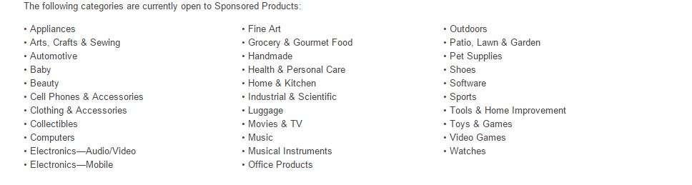 PPC categories