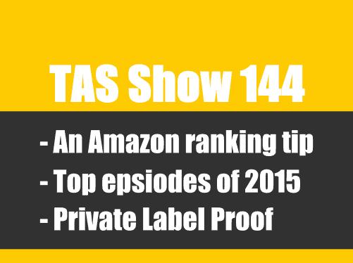 TAS144- private label, Amazon FBA