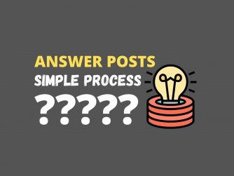 Writing Answer Posts